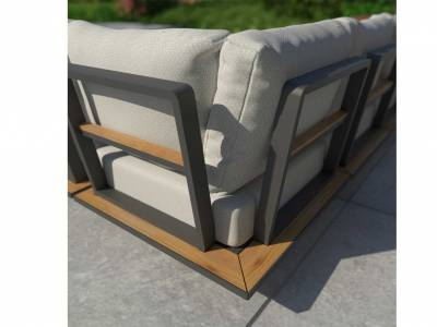 4 Seasons Outdoor Arcade 2-Sitzer Ablage links, inkl. 5 Kissen