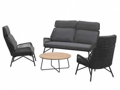4 Seasons Outdoor Carthago Living Sessel Platinum, inkl. 2 Kissen