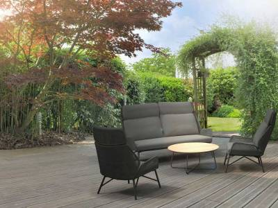 4 Seasons Outdoor Carthago Sofa Platinum, inkl. 3 Kissen