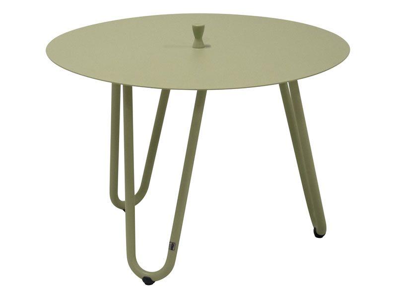 4 Seasons Outdoor Cool - Beistelltisch Ø 60 cm, Höhe 40cm, Farbe: Olive
