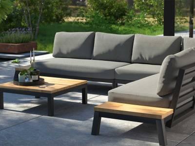 4 Seasons Outdoor Empire Plattform 2-Sitzer Ablage links, inkl. 4 Kissen