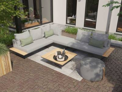 4 Seasons Outdoor Endless Multi-Concept Sofa/Chaise-Lounge