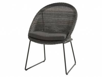 4 Seasons Outdoor Hampton Dining Sessel, charcoal inkl. Kissen