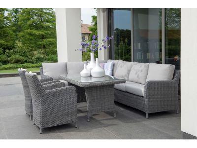 4 Seasons Outdoor Indigo 2-Sitzer, Armlehne links