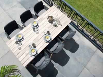 4 Seasons Outdoor Lisboa dining Sessel ALU Beine , inkl. Kissen