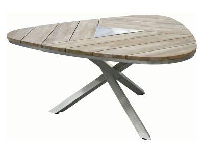 4 Seasons Outdoor Maison dreieckiger Tisch aus Teakholz