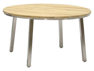 4 Seasons Outdoor Maison Tischplatte aus Teakholz Ø 135 cm mit Beinen