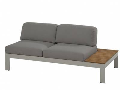 4 Seasons Outdoor Mistral 2 Sitzer Sofa, Ablage links aus Teakholz