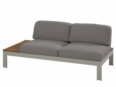 4 Seasons Outdoor Mistral 2-Sitzer Sofa, Ablage rechts aus Teakholz
