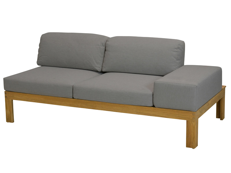 4 Seasons Outdoor Mistral, Teak, 2 Sitzer Sofa, Armlehne links