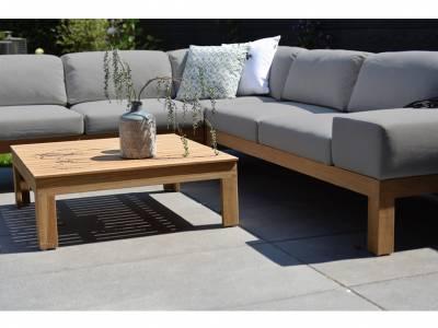 4 Seasons Outdoor Mistral, Teak, 2 Sitzer Sofa, Armlehne links