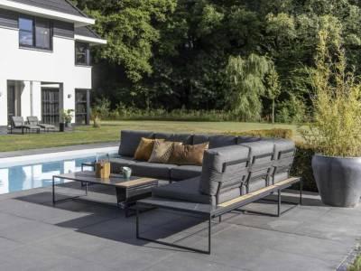 4 Seasons Outdoor Patio Platform 2 -Sitzer rechts inkl. 4 Kissen