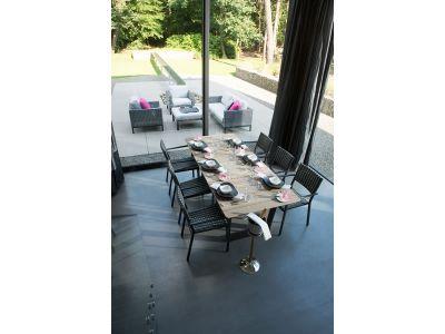 4 Seasons Outdoor PIAZZA, Gartenstuhl, black/black pepper, stapelbar