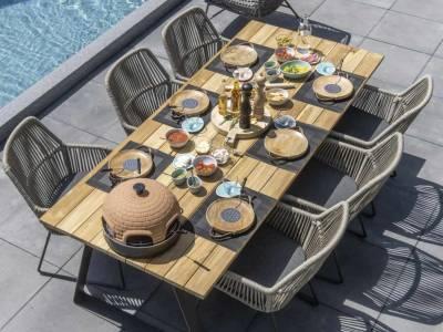 4 Seasons Outdoor Ramblas dining Sessel Taupe inkl. Kissen