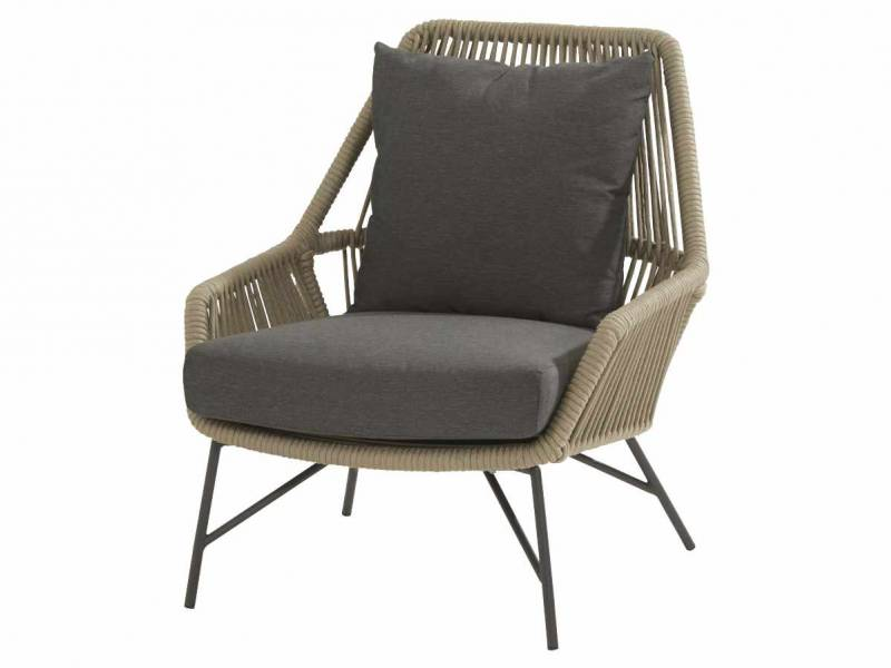 4 Seasons Outdoor Ramblas living Sessel Taupe inkl. 2 Kissen