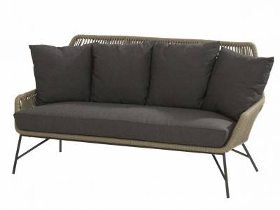 4 Seasons Outdoor Ramblas Sofa 2.5 -Sitzer Taupe inkl. 5 Kissen