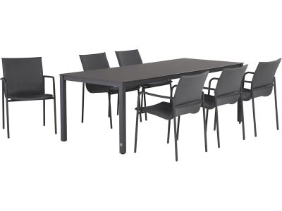 4 Seasons Outdoor Rivoli Table Concept Esstisch 170x95 cm, weiße Alulamellen