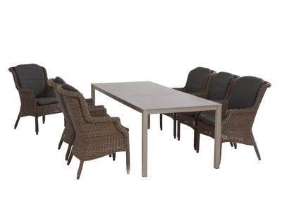 4 Seasons Outdoor Rivoli Table Concept Esstisch 220x95 cm, Aluminium taupe