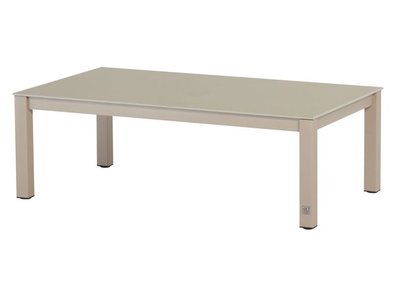 4 Seasons Outdoor Rivoli Table Concept Slimtop Kaffeetisch 120 x 70 cm,  taupe