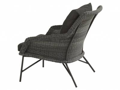 4 Seasons Outdoor Samoa Lounge Sessel, charcoal inkl. Kissen