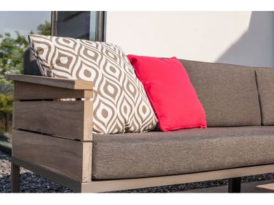 4 Seasons Outdoor Serie Cava Teak, 2-Sitzer mit Armlehne links