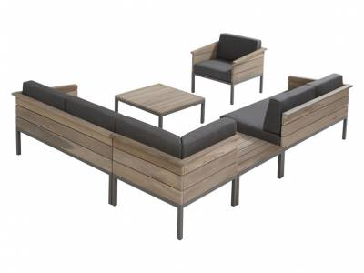 4 Seasons Outdoor Serie Cava Teak, Eckmodul