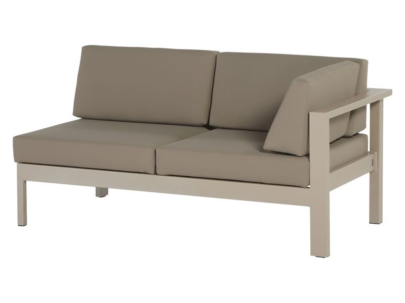 4 Seasons Outdoor Serie Cosmo, 2 Sitzer links, taupe