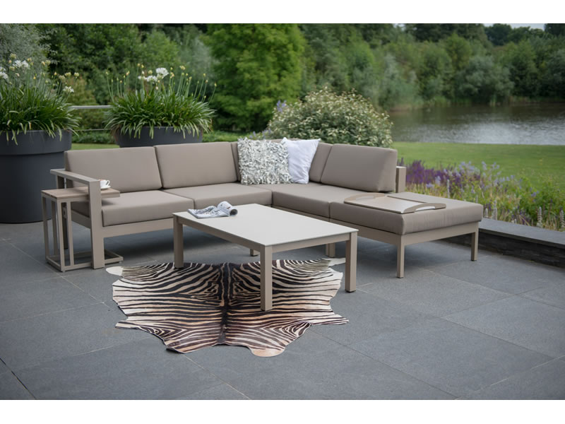 4 Seasons Outdoor Serie Cosmo, 2 Sitzer links, taupe ...