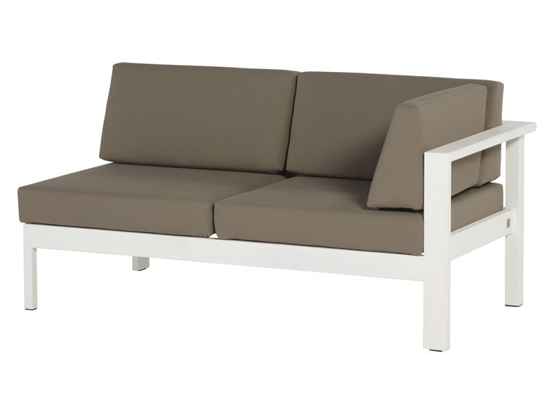 4 Seasons Outdoor Serie Cosmo Modular Living, 2 Sitzer links, weiß