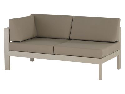 4 Seasons Outdoor Serie Cosmo Modular Living, 2 Sitzer rechts, taupe
