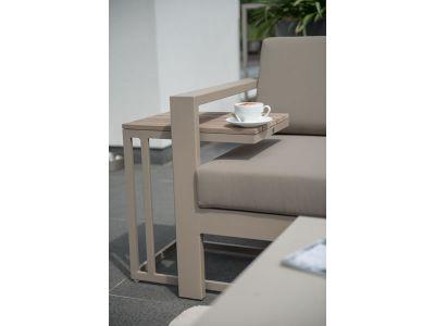 4 Seasons Outdoor Serie Cosmo Modular Living, 2 Sitzer rechts, taupe