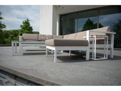 4 Seasons Outdoor Serie Cosmo Modular Living, 2 Sitzer rechts, weiß