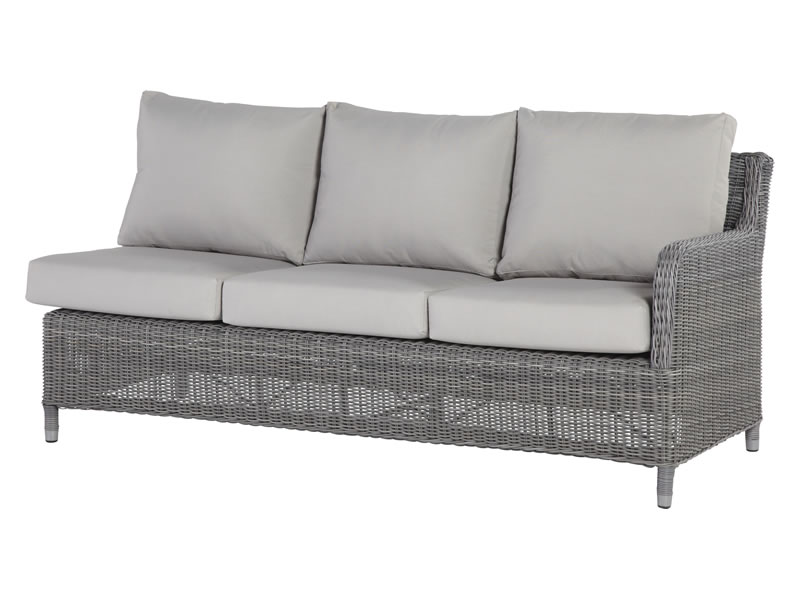 4 seasons outdoor serie indigo 3 sitzer sofa links. Black Bedroom Furniture Sets. Home Design Ideas