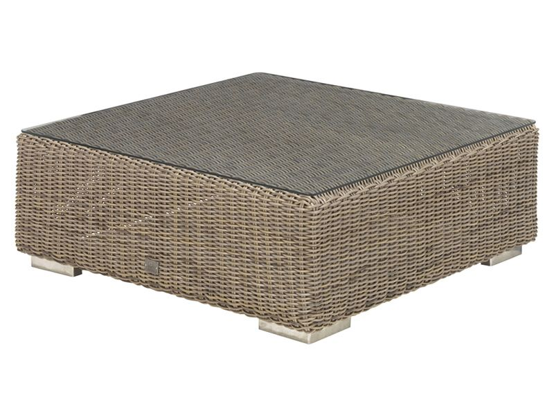 4 Seasons Outdoor Serie Kingston, Kaffeetisch, Glas Top 95x95 cm