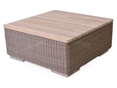 4 Seasons Outdoor Serie Kingston, Kaffeetisch, Teak Top 85x85 cm