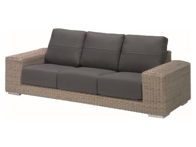4 Seasons Outdoor Serie Kingston, Loungesofa 3 Sitzer