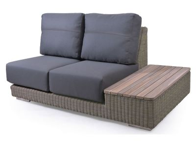 4 Seasons Outdoor Serie Kingston, modularer 2 Sitzer, Insel links