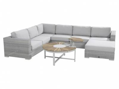 4 Seasons Outdoor Serie LUCCA, 2,5-Sitzer-Sofa, polyloom ice