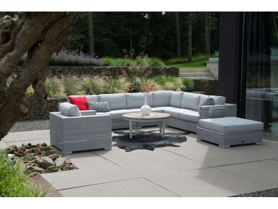 4 Seasons Outdoor Serie LUCCA, Eckteil, polyloom ice