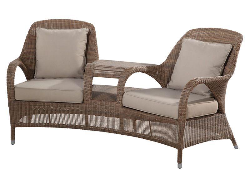 4 Seasons Outdoor Serie Sussex, Love Seat Loungesessel