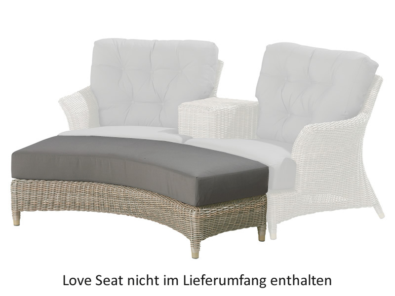 4 Seasons Outdoor Serie Valentine, Fußhocker für Valentine Love Seat