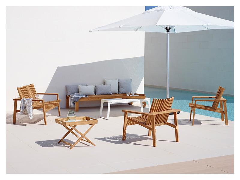 cane line amaze klapptisch mit abnehmbaren tablett. Black Bedroom Furniture Sets. Home Design Ideas