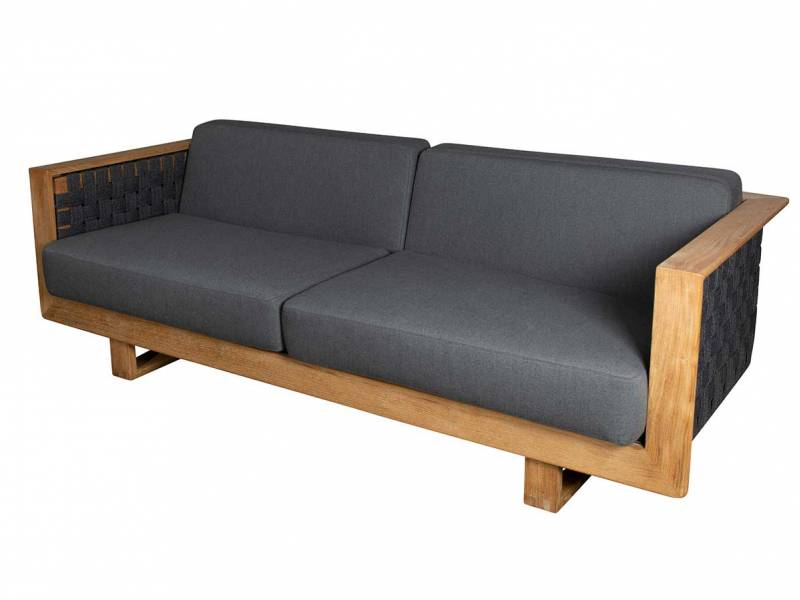 Cane-line Angle 3-Sitzer Sofa, Inkl. grey Cane-line AirTouch Kissen
