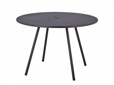 Cane-line Area Tisch, Aluminium, Ø 110 cm, lavagrau