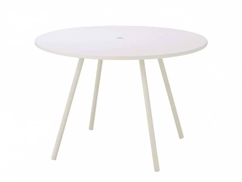 Cane-line Area Tisch, Aluminium, Ø 110 cm, weiss