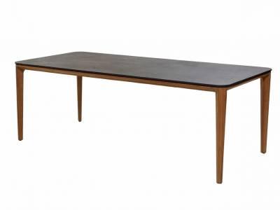 Cane-line Aspect Tisch, 210 x 100 cm, Teak Tischplatte: Fossil black Keramik