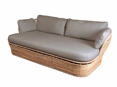 Cane-line Basket 2-Sitzer Sofa, inkl. Cane-line AirTouch Kissensatz, Cane-line Weave Taupe