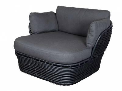 Cane-line Basket Loungesessel, Inkl. Cane-line AirTouch Kissensatz, Cane-line Weave Grey