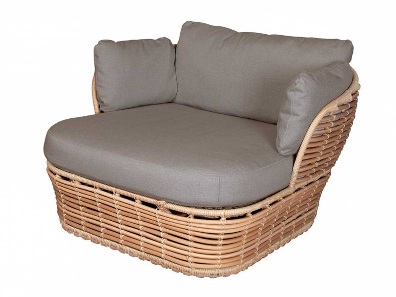 Cane-line Basket Loungesessel, Inkl. Cane-line AirTouch Kissensatz, Cane-line Weave Taupe