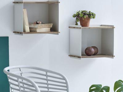 Cane-line BOX WALL, Wandregal-Box, Weiss